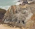 Landslide gash, cliffs at Bedruthan Steps - geograph.org.uk - 224342.jpg