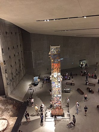 The Last Column removed from the World Trade Center site on display at the 9/11 Museum Last Column removed.jpg