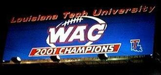 Louisiana Tech Bulldogs football - Louisiana Tech 2001 WAC Champions billboard
