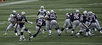 LeGarrette Blount - Taking a handoff from Tom Brady in 2013.