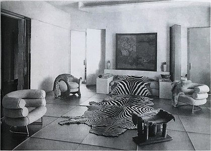 Le salon de verre, designed by Paul Ruaud, furniture by Eileen Gray, for Madame Mathieu-Levy (boutique J. Suzanne Talbot), Paris, 1922.jpg