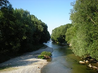 Leitha river in Austria and Hungary