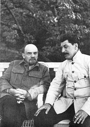 Rise of Joseph Stalin - Stalin visiting the ailing Lenin at his dacha in Gorki in 1922.