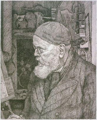 Leopold Graf von Kalckreuth - Self-portrait (1906)