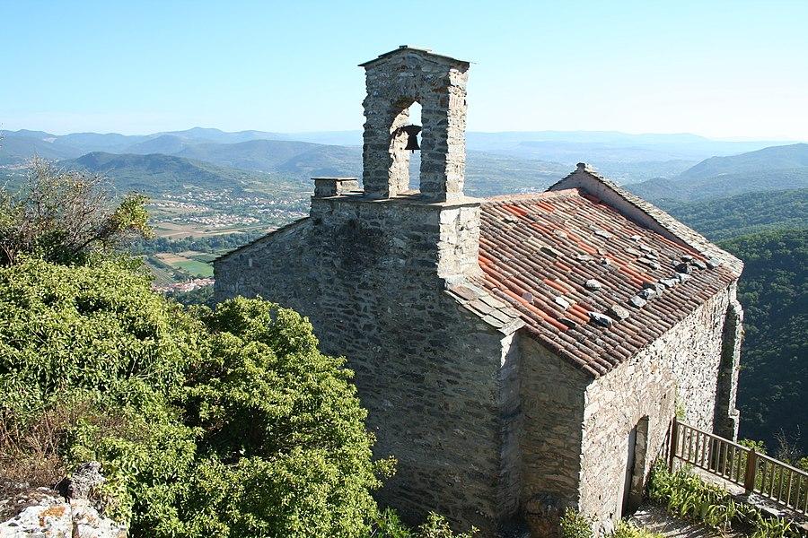 Les Aires (Hérault) - chapelle Saint-Michel du château de Mourcairol.