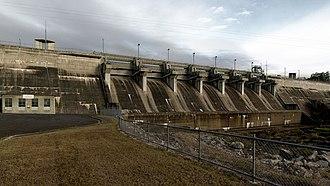 Leslie Dam - Image: Leslie Dam Spillway 20042018