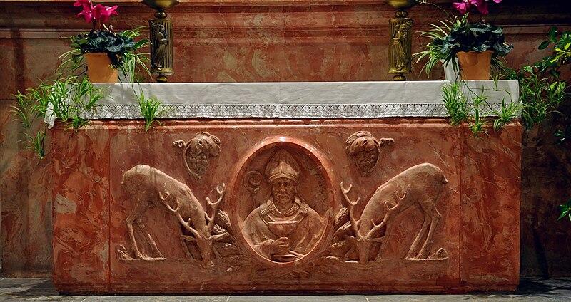 File:Levertsweiler Pfarrkirche Hochaltar Mensa.jpg