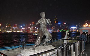 English: The statue of Bruce Lee in Hong Kong.