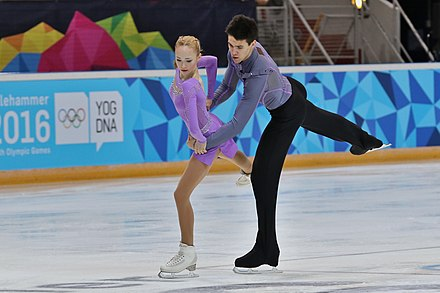Pair figure skaters Lillehammer 2016 - Figure Skating Pairs Short Program - Alina Ustimkina and Nikita Volodin 6.jpg