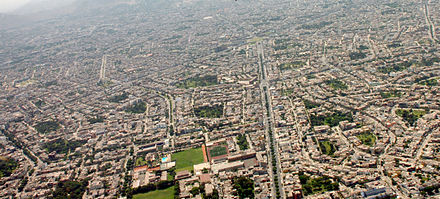 Aerial view of the Santiago de Surco middle class gated community of Lima, Peru. Lima Luftaufnahme.jpg
