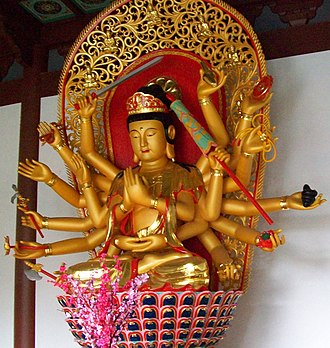 Cundi (Buddhism) - Image: Lingyin temple 18 armed cundi