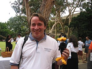 Linus Torvalds came to Perth for the 2003 Aust...