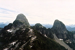 The Lions (peaks) - Image: Lionshiked