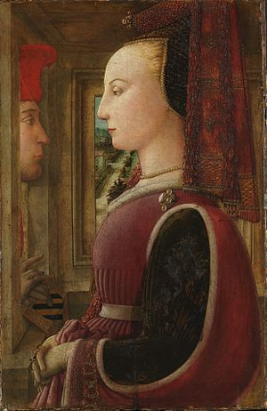 Filippo Lippi - Portrait of a Man and Woman at a Casement (c. 1440). Metropolitan Museum of Art, New York City.