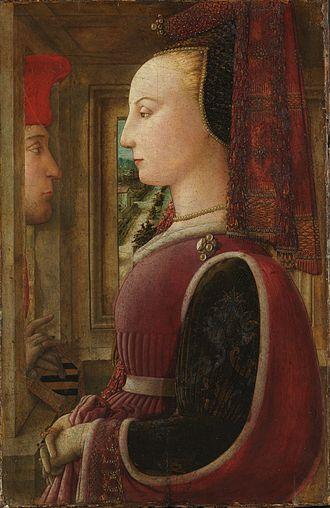 Filippo Lippi - Portrait of a Man and Woman at a Casement (c. 1440). Metropolitan Museum of Art, New York City.