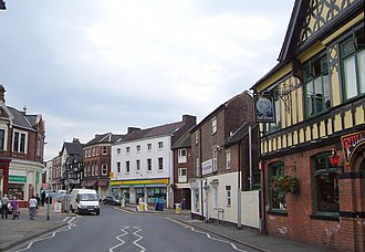 Newcastle-under-Lyme - Image: Liverpool Road, Newcastle Under Lyme geograph.org.uk 2101373