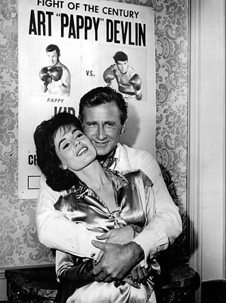 """The Lloyd Bridges Show - Lloyd Bridges and Mary Murphy in episode """"My Daddy Can Beat Your Daddy"""" (1963)"""