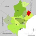 Localització d'Aigües respecte l'Alacantí.png