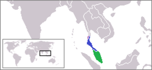 Malay Peninsula - Locator map