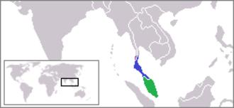 Malay Peninsula - Locator map