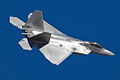 Lockheed Martin F-22 Raptor in flight, starboard side.jpg