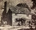 Log cabin schoolhouse of Pittsburgh Academy 1787.jpg