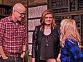 Logan Hill, Leslye Headland, and Melissa Rauch at Sundance 2015.jpg