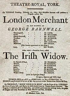 <i>The London Merchant</i> play