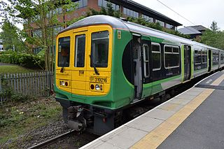 Abbey Line railway line from Watford Junction to St Albans Abbey, England