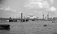 View downstream from Westminster Pier, 1958.