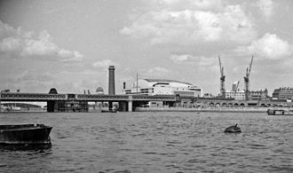 Royal Festival Hall - View to the South from Westminster Pier, 1958