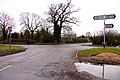 Looking south at the crossroads in Worminghall - geograph.org.uk - 1716145.jpg