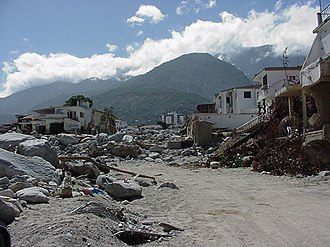 Vargas tragedy - A section of Los Corales, one of the neighborhoods in the Vargas state which suffered the heaviest destruction