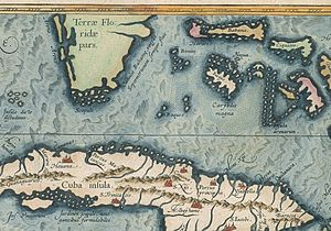 Elbow Cays - Los Roques in Atlas Ortelius ca 1580