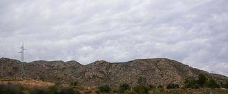 Coll de Balaguer - View of Los Dedalts mountains in the Coll de Balaguer area.