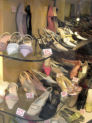 Shoes in a shop