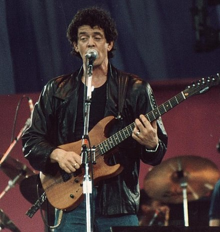 Reed performing during A Conspiracy of Hope in 1986 - Lou Reed