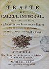 Louis Antoine de Bougainville - Traité du calcul intégral.jpg