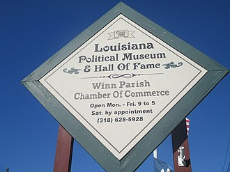 Louisiana Political Museum and Hall of Fame - The Hall of Fame is within the Winn Parish Chamber of Commerce building.