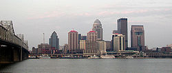 Skyline of Louisville, Kentucky