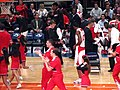 Louisville takes timeout during 2007 Big East Tournament.jpg