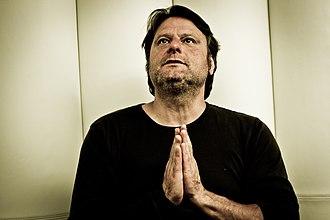 Luc De Vos - Vos praying before performing, June 2014