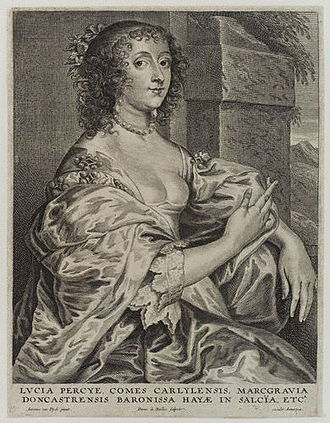 Lucy Hay, Countess of Carlisle - Lucy Carlisle, engraving by Pieter de Bailliu the Younger