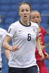 Lucy Bronze England Ladies v Montenegro 5 4 2014 826 (cropped).jpg