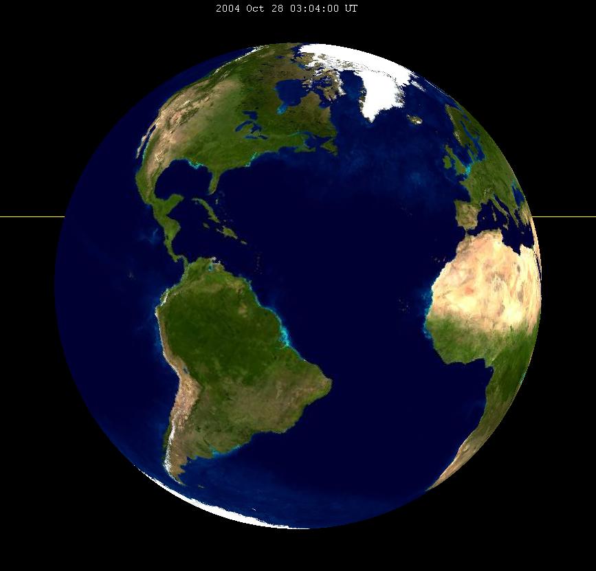 Lunar eclipse from moon-2004Oct28