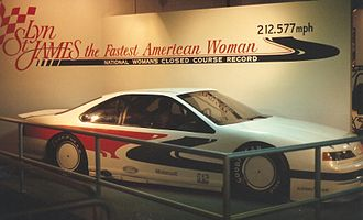 Talladega Superspeedway - Lyn St. James' female closed circuit speed record car