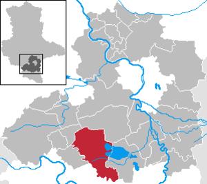 Mücheln - Image: Mücheln (Geiseltal) in SK