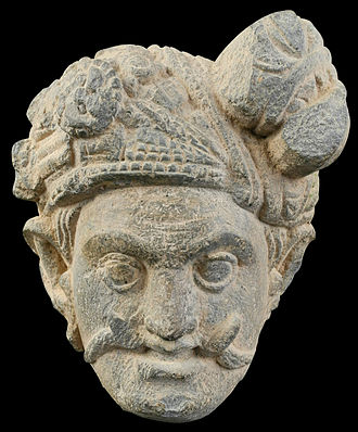 Mara (demon) - Relief fragment of Mara in Gandhara style, found in Swat Valley