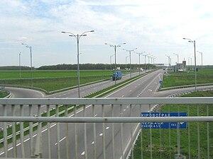 Highway M05 (Ukraine) - M05 near Uman, Cherkasy oblast