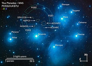 Alcyone (star) - Image: M45map